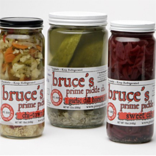 Assorted pickles from Bruce's Prime Pickle Co.