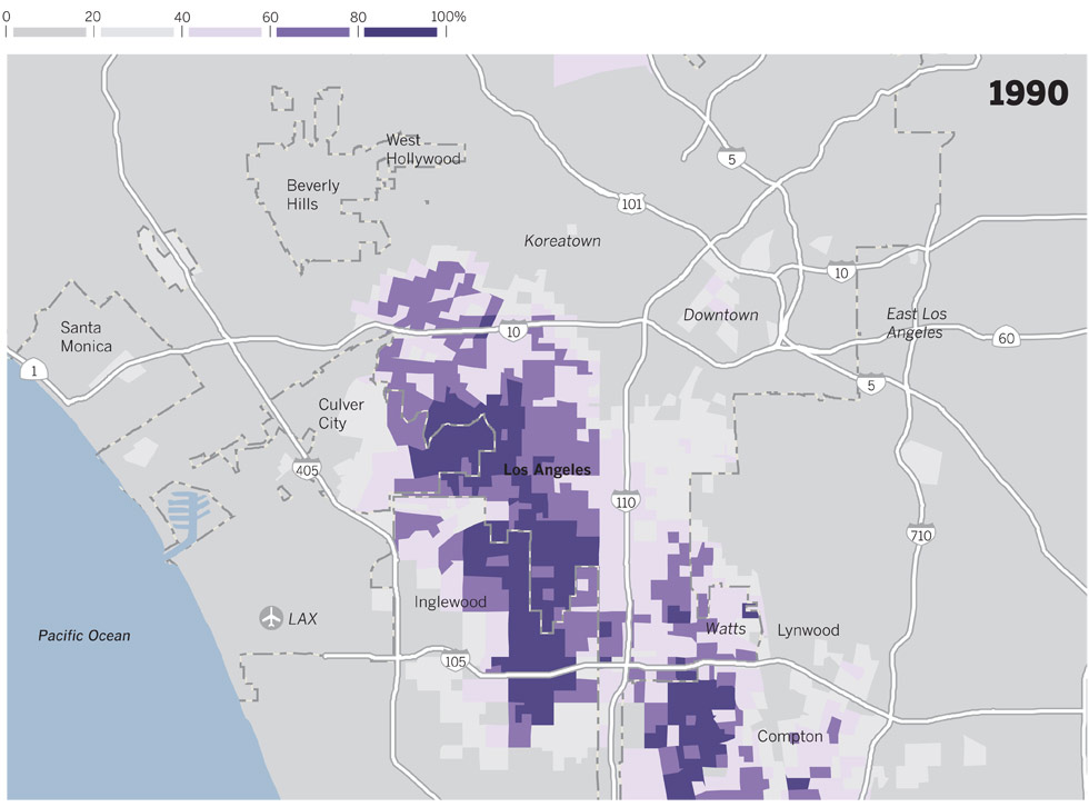 Interactive Los Angeles In Flux Data Desk Los Angeles Times - Map of riots in us
