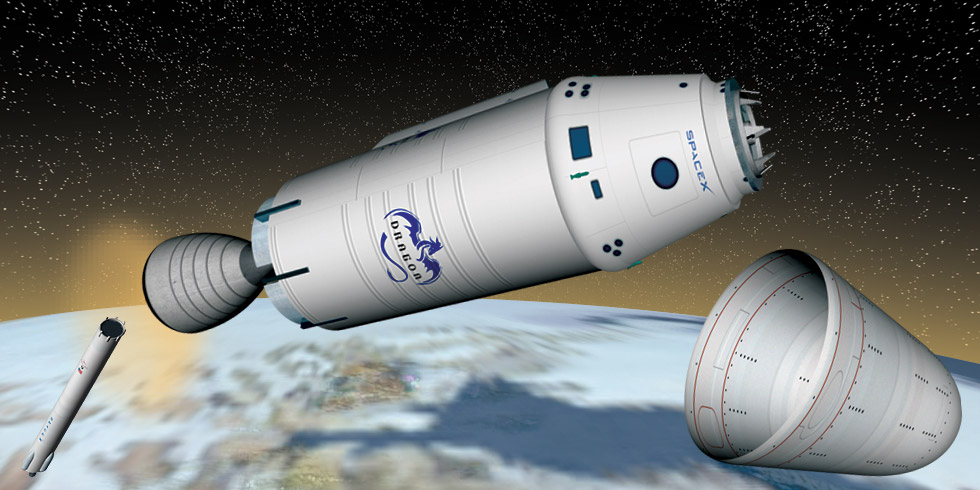Dragon 2 Spacecraft - Pics about space