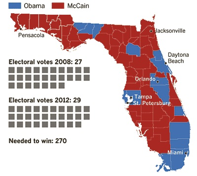 Political Map 2012 Election.Florida County Voting Map 2012 Bnhspine Com