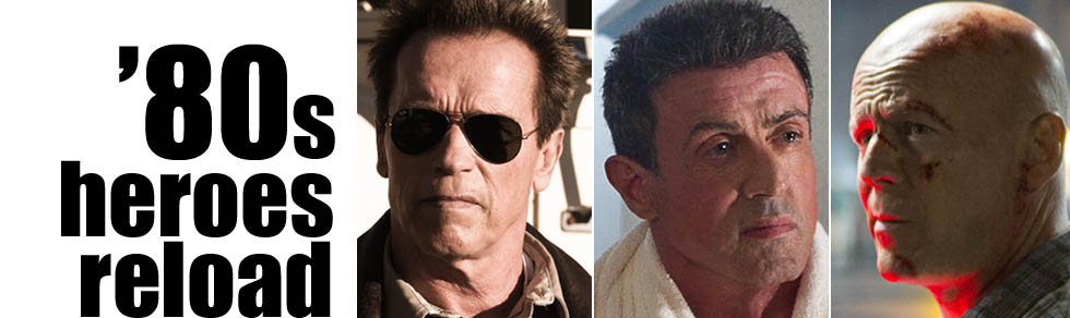 Schwarzenegger, Stallone and Willis take aim at new villains