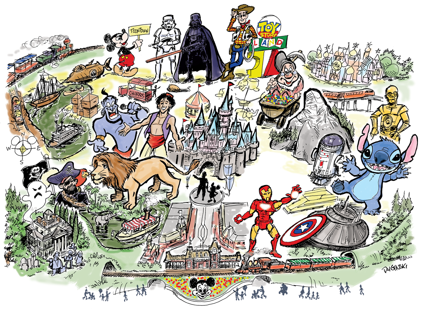 Gaze Into A Crystal Ball What Will Disneyland Look Like At - Los angeles map disneyland