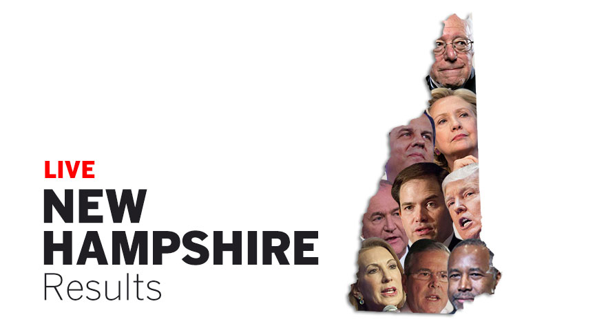 New Hampshire primary 2016 election results and map - Los ...