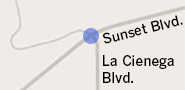 Sunset Blvd. and La Cienega Blvd.