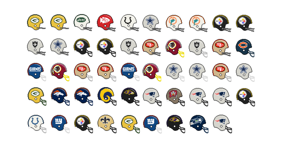 Super Bowl Winners Bit By Bit Los Angeles Times