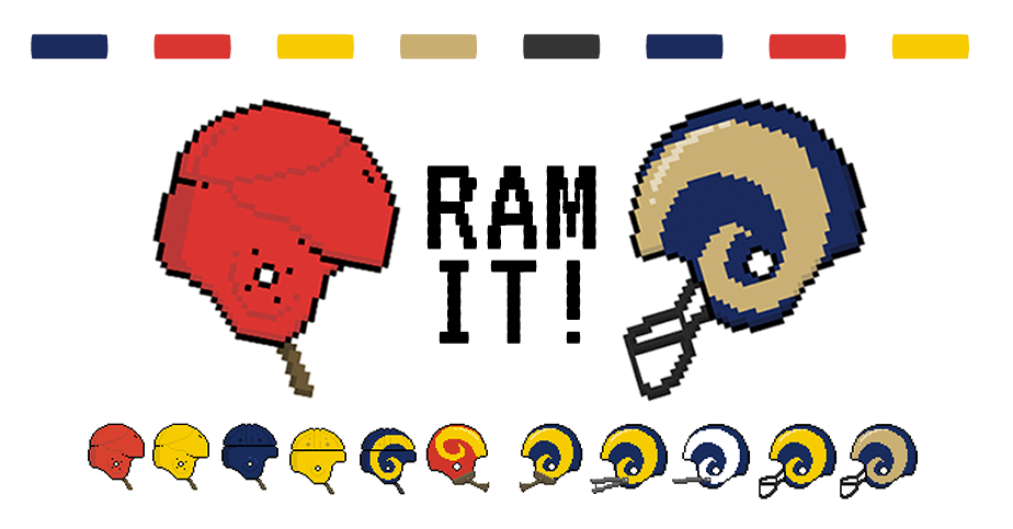 Rams Helmets Through The Years Los Angeles Times