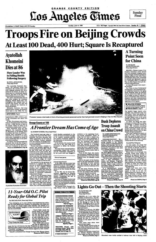 american news coverage on the tiananmen International reaction bush was feeling tremendous pressure from the american people to respond in states fox news coverage of the tiananmen square.